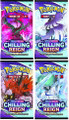Pokemon - Sword & Shield - Chilling Reign - Booster Pack x4