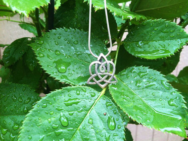 Brighid's Heart Pendant (shown on a serpent chain necklace, not included, also available in the Shoppe)