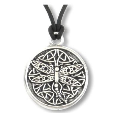 Celtic dragonfly pendant