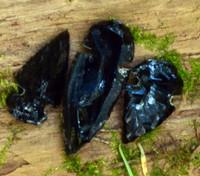 Samples of Obsidian Arrowheads