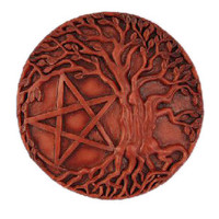 Pentacle Tree Altar Tile