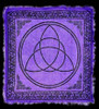 Purple Triquetra Wiccan Altar Cloth