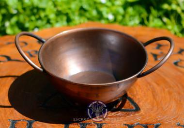 Old fashioned copper pot cauldron