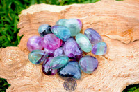 Rainbow Fluorite, Tumbled.  Large AA Quality