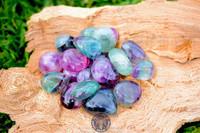 Rainbow Fluorite, Tumbled.  Large AA Quality