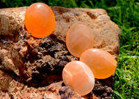 Orange Selenite Palm Stone