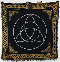 Black triquetra altar cloth