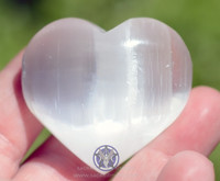 Selenite puffy heart, up close