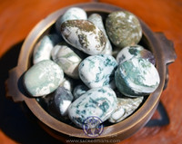 Tumbled green tree agate