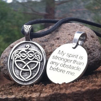 Celtic Strength Pewter Necklace - Acorn