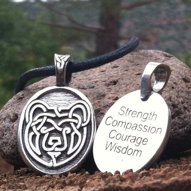 Celtic Strength Pewter Necklace - Bear