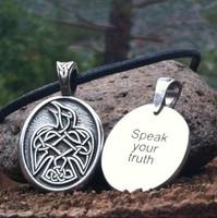 Celtic Strength Pewter Necklace - Raven