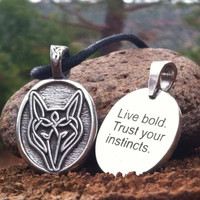 Celtic Strength Pewter Necklace - Wolf