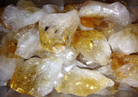 Citrine points, natural state