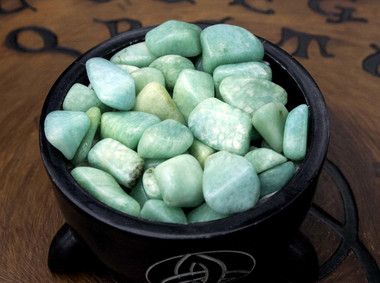 Amazonite, Tumbled.  A Quality