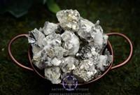 Mica on matrix, natural mineral