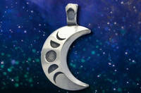 Crescent Moon Necklace with phases of the moon.