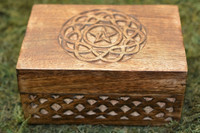 Celtic Pentacle Wooden Tarot Box