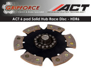 ACT Xtreme Performance HDR6 6 Pad Solid Hub Race Disc Fits Mitsubishi Tiburon