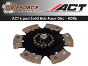 ACT Xtreme Performance HDR6 6 Pad Solid Hub Race Disc Fits Mitsubishi Tiburon