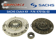 Sachs OE Clutch Kit 1998-05 VW Beetle 99-06 Golf 1999-05 Jetta 2.0L Aeg Gas Mk4