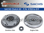 Sachs OEM Clutch and Flywheel Kit 1998-06 VW Beetle Golf Jetta 1.9L Tdi Turbo Diesel