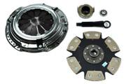 FX Racing Xtreme 6-Puck Rigid Clutch Kit 92-00 Civic 93-95 Delsol 1.5L 1.6L Sohc