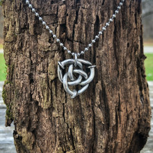Triquetra Pendant Necklace with Stainless Cord
