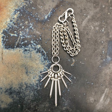 Jean Drop Pendant Necklace with Mini Boot Ruiner Chain