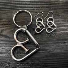 Large Unbreakable Heart Keychain + Small Earrings