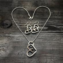 Unbreakable Heart Necklace + Small Earrings