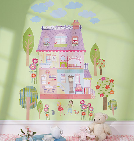 Childrens Wall Stickers - Wallies - Play House