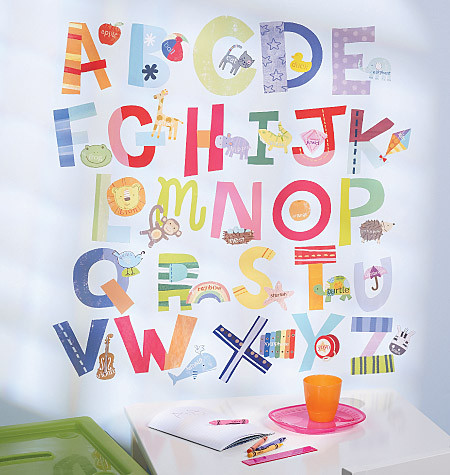 Childrens wall stickers - Wallies - Alphabet Fun  sc 1 st  Dotty Hippo & Wallies Alphabet Fun Wall Play Stickers - Alphabet Wall Stickers