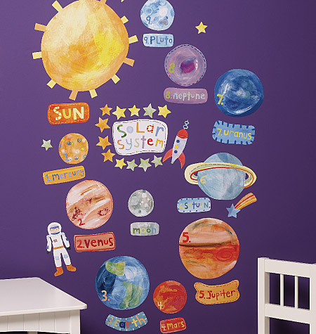 Childrens Wall Stickers - Wallies - Solar System