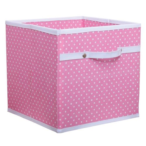 Pink Dotty Storage Box - Childrens Storage