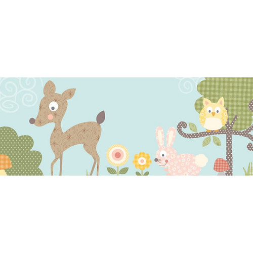 Roommates Woodland Animals Border - Kids Wall Stickers