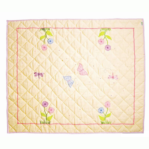 Win Green Butterfly Floor Quilt - Small