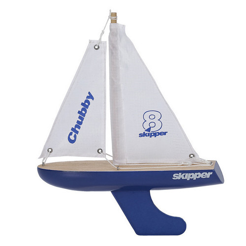 Skipper Wooden Pond Yacht - Traditional 8 Inch