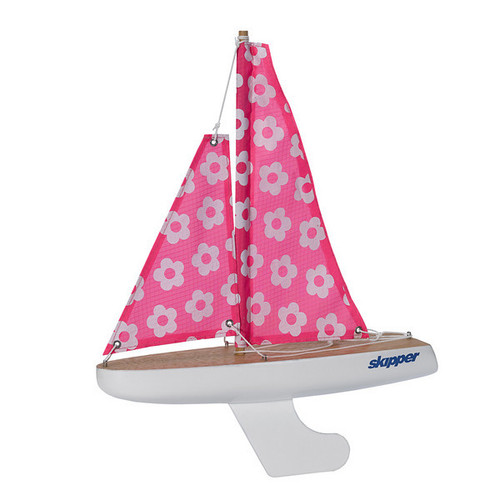 Skipper Pond Yacht - Pink and White Flowers - 8 Inch