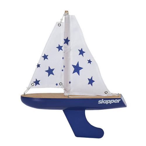 Skipper Pond Yacht - Blue Stars - 8 Inch