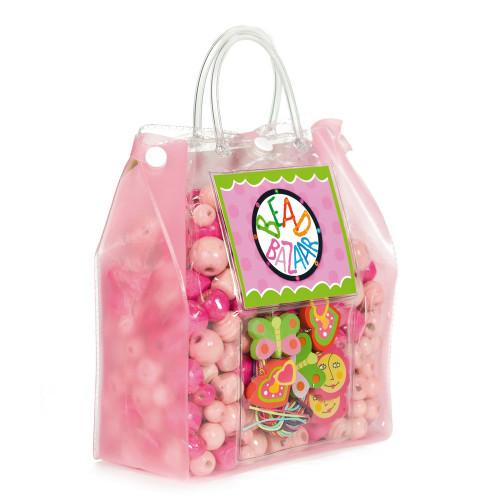 Bead Bazaar - Chica Bead Bag - Pink - Bead Sets