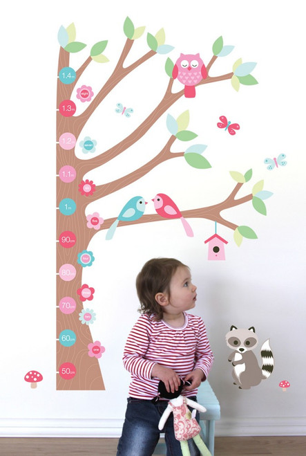 Forest Growth Chart - Forwalls Nursery Wall Stickers
