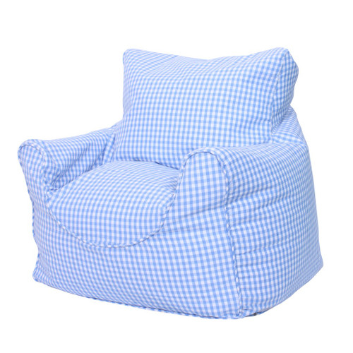 Babyface Blue Gingham Beanbag Chair - Childrens Bedding
