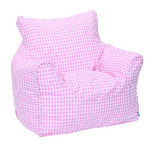 Babyface Pink Gingham Beanbag Chair - Childrens Bedding