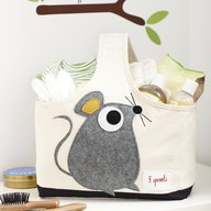 3 Sprouts Storage Caddy - Mouse - Fabric Nursery Storage