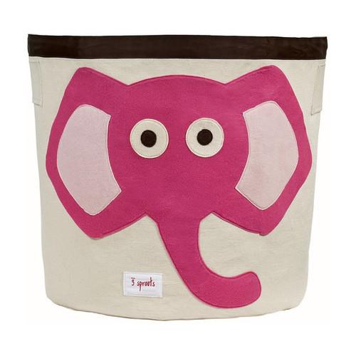 3 Sprouts Storage Bin - Pink Elephant - Nursery Storage