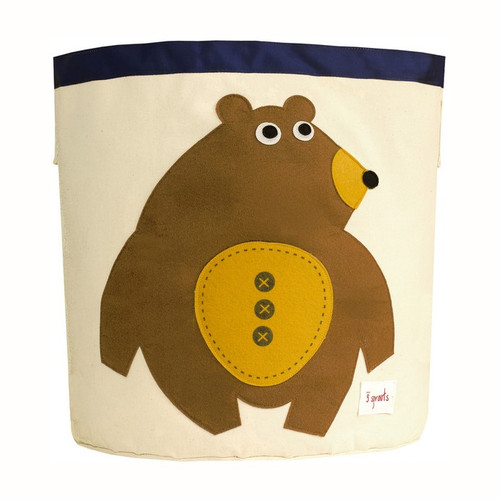 3 Sprouts Storage Bin - Bear - Nursery Storage