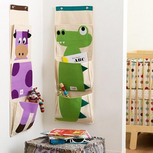 3 Sprouts Wall Organiser - Crocodile - Nursery Storage