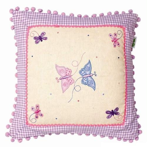 Win Green Butterfly Cushion