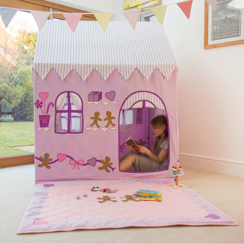 Kiddiewinkles Gingerbread Cottage and Sweet Shop Playhouse - Large